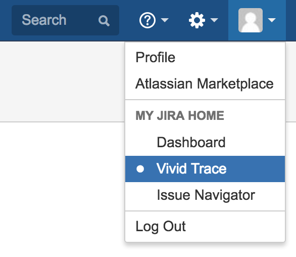 Figure: Vivid Trace My Jira Home setting.